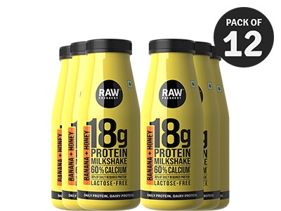 Protein Milkshake - Honey Banana - Pack Of 12