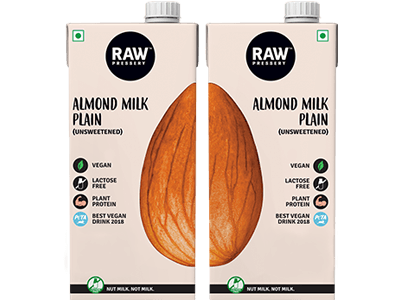 Almond Milk Plain (1L x 2)